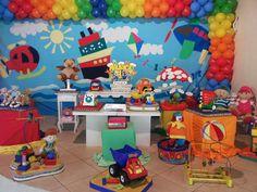 Corujinha Baby Festas: Festa Infantil- Corujinha Baby Festas- Decoração Provençal tema Brinquedos