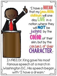 Martin Luther king made a speech about racism in 1963 Ice King, King Jr, Mlk Jr Day, King Craft, Black History Month Activities, Up Book, History Teachers, Teacher Quotes, School Holidays