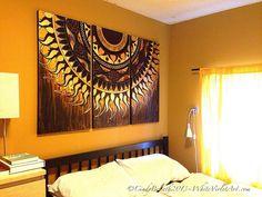 Afbeeldingsresultaat voor sun mandala on canvas Sun Mandala, Mandala Canvas, Mandala Painting, Mandala Drawing, Dot Painting, Modern Art Paintings, Cool Paintings, Mural Art, Wall Murals