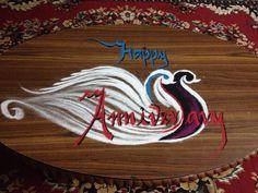 Rangoli on mom dad marriage anniversary- 2015