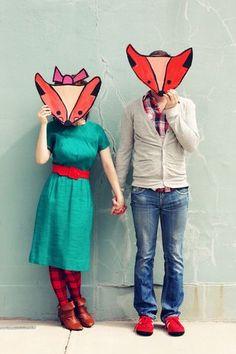 Mr and Mrs Fox  (hehe!)