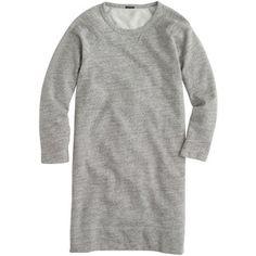 Pure comfort... J.Crew Sweatshirt dress in speckle grey
