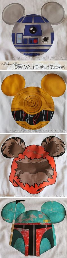 Mickey Mouse Star Wars T-shirt Tutorial                                                                                                                                                                                 More