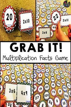 Grab It! Students practice their multiplication facts from The great thing about this game is that you can differentiate it and only use the facts that YOU want your students practicing! In this game, students practice their multiplication facts by