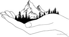Mountain in Hands by smalltownnc