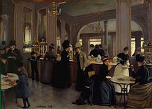 The Pastry Shop at Champs-Elysees (La Patisserie Gloppe aux Champs-Elysees) 1889 Jean Beraud Oil on wood Musee Carnavalet, Paris Stock Photo French Paintings, Beautiful Paintings, Victorian Paintings, Classic Paintings, Jean Beraud, French Impressionist Painters, Jean Leon, Jean Georges, Painting Art