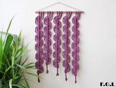 Macrame wall hanging wall hanging macrame decor wall decor.