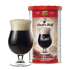 The Coopers Devil's Half Ruby Porter is a full bodied Porter with hints of ruby, chocolate toffee malt, fruity hop notes and a rich creamy head Home Brew Supplies, Brewing Supplies, Home Brew Shop, Beer Ingredients, Home Brewing Equipment, Homemade Beer, Chocolate Toffee, Beer Brewing, Delicious Chocolate