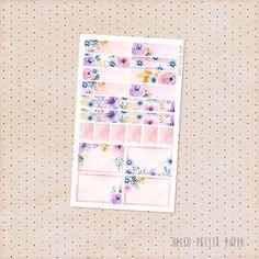 Watercolor floral planner stickers - Le Jardin Collection / matte functional sampler