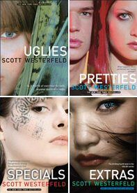 Uglies, Pretties, Specials, and Extras by Scott Westerfield.    Just read this series and fell in love!!! <3