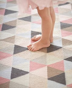 FLOOR RUG | ballerina by armadillo + co | Cranmore Home I love the idea of a round rug for Edie's room but if you want a rectangle this has all the colours you like and will grow with her