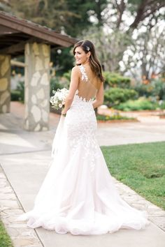 #fashion, #dress, #illusion-back, #fit-and-flare, #applique  Photography: Brandon Kidd Photography - brandonkidd.net Wedding Dress: Desiree Hartsock with Maggie Sottero - http://maggiesottero.com