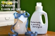 Homemade Laundry Soap: Liquid Detergent Recipe. Use this recipe every 2-3 months and it smells wonderful, great for your clothes and you save $$$!