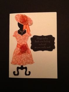 Stampin' Up! Dress Up framelit - Just a peach