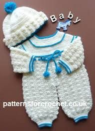Afbeeldingsresultaat voor newborn boy romper crochet free pattern