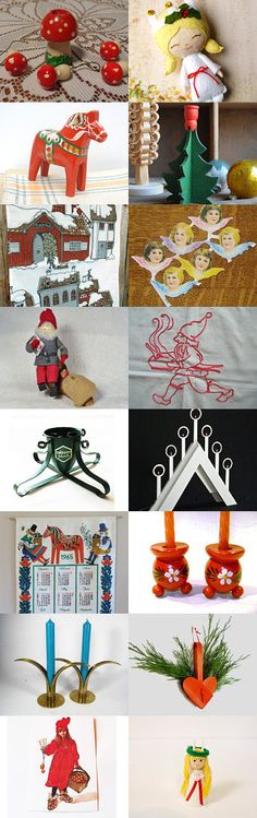 Swedish Christmas by Louise Nilsson on Etsy--Pinned with TreasuryPin.com
