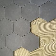 Liking the cement tile affect: Cement Tile Shop - Encaustic Cement Tile Pacific Grey Hexagon=master bath (floor) Hex Tile, Hexagon Tiles, Cement Tiles, Tiles Uk, Tiling, Hexagon Tile Bathroom Floor, Honeycomb Tile, Subway Tile, Mosaic Tiles