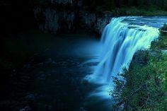 Upper Mesa Falls in Island Park,  Gerrit, Idaho, USA