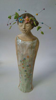 Ceramic Sculptures, Buddha, Angels, Statue, Painting, Pottery, Art Sculptures, Angel, Painting Art