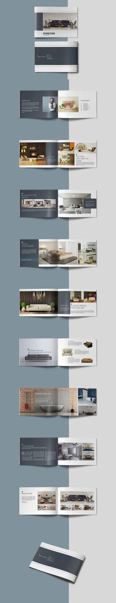 Portfolio Brochure Catalogs Template PSD, INDD - 20 Pages - Graphic Templates Graphic Design Brochure, Brochure Layout, Web Design, Layout Design, Company Profile Design, Folders, Luxury Brochure, Booklet Design, Interior Design Business