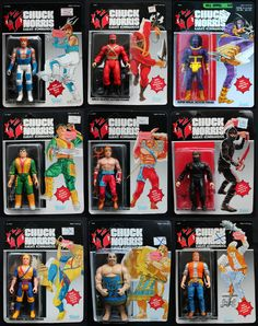 I was twelve when these came out, and they were just crazy!! I remember I didn't want to buy the Sumo wrestler or the street clothes Chuck, because I thought they were silly.