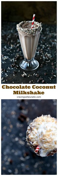This chocolate and coconut milkshake is the perfect drink for game day, cookouts or family gatherings. Chocolate and coconut pair perfectly in this tasty milkshake. This post has been sponsored by NE
