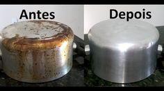 Aprenda como limpar panelas queimadas de gordura de maneira eficiente e com apenas 3 ingredientes. Transforme panelas queimadas em panelas novinhas!