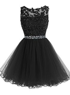 Tideclothes Short Beaded Prom Dress Tulle Applique Evening Dress Black US2 Tideclothes http://www.amazon.com/dp/B018WWK01G/ref=cm_sw_r_pi_dp_Nd5Nwb0JM7C57