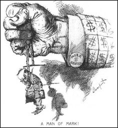 A cartoon of William McKinley showing that he is a tool of Mark Hanna (political cartoon by New York Journals) the author of this political cartoon is Homer Davenport . Published in New York Journal, William Mckinley, The Spanish American War, Dollar Sign, American Presidents, A Cartoon, Political Cartoons, Creatures, Animation