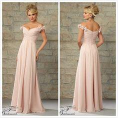 Straps Chiffon Bridesmaid dress #20453