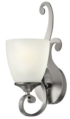 "Hinkley Lighting 56320 1 Light 5"" Width Bathroom Sconce from the Reese Collectio Antique Nickel Indoor Lighting Bathroom Fixtures Bathroom Sconce"