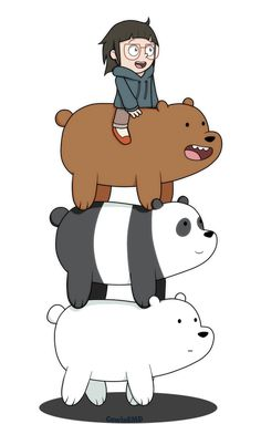 "We Bare Bears - Grizzly ""Grizz"", Panda, Ice Bear, Chloe Ice Bear We Bare Bears, 3 Bears, Cute Bears, We Bare Bears Human, Bear Wallpaper, Wallpaper Iphone Cute, Desenhos Cartoon Network, We Bare Bears Wallpapers, Cartoons Love"