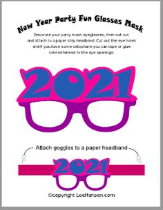 Printable New Year Party Masks Craft for your celebration or photo booth props set. Print, cut, make this eye mask for all your friends and family. Printable Masks, Printables, Flag Game, Unique Party Favors, Party Masks, Mask Template, Color Lenses, Activity Sheets, Frame Crafts