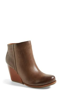 Bought these today! Can Houston get a cold front already? Kork-Ease™ 'Natalya' Burnished Leather Demi Wedge Boot (Women) available at #Nordstrom