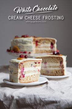 Lemon cranberry pound cake and white chocolate cream cheese frosting! This poundcake is perfect for the holidays.