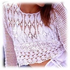 White summer blou... New products are added to our shop: www. asdidy.net  Come to see it and many other! http://www.asdidy.net/products/white-summer-blouse-crochet-kit?utm_campaign=social_autopilot&utm_source=pin&utm_medium=pin