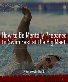How to Be Mentally Prepared to Swim Fast at the Big Meet - Swim team - Swimming Drills, Competitive Swimming, Swimming Tips, Swimming Diving, Keep Swimming, Sea Diving, Swimmer Memes, Swim Technique, Swimming Motivation