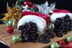 Christmas coal Krispie Treats