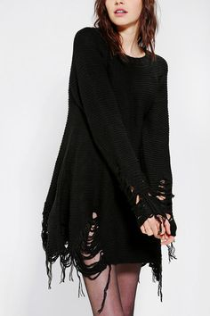 UNIF Come Down Torn-Hem Sweater Dress I lovelovelove but more than 70 € for a sweater?!