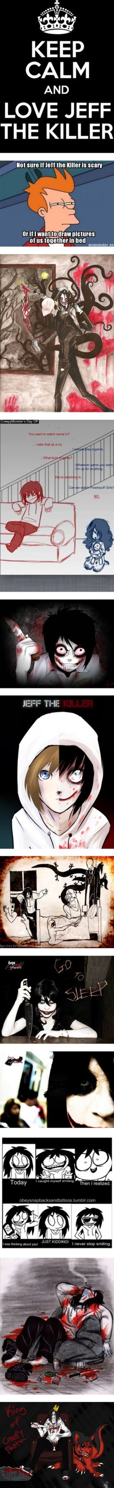 """Jeff The Killer Says............ GO TO SLEEP!"" by fallinangle ❤ liked on Polyvore"