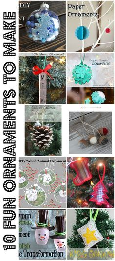 10 Fun Ornaments to Make - Nap-time Creations