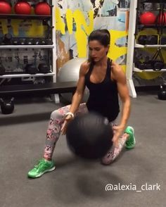 """5,204 Likes, 110 Comments - Alexia Clark (@alexia_clark) on Instagram: """"Med Ball Blitz  All you need is a med ball to rock your body on this circuit! Exercise 1: 10…"""""""