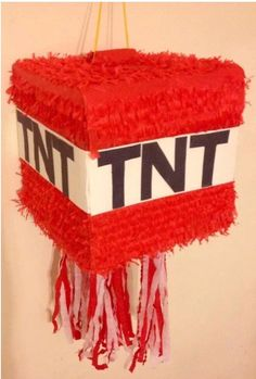 TNT handcrafted piñata great for Minecraft by Theperfectpinata