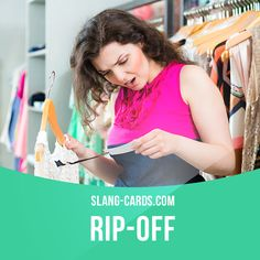 """Rip-off"" means something that is not ​worth what you ​pay for it. Example: $300 for that ​shirt? That's a ​complete rip-off. Get our apps for learning English: learzing.com"