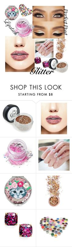 """""""Untitled #251"""" by aazraa ❤ liked on Polyvore featuring beauty, In Your Dreams, Betsey Johnson and Kate Spade"""