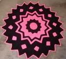 Pink 24 Point Round Ripple   AllFreeCrochetAfghanPatterns.com