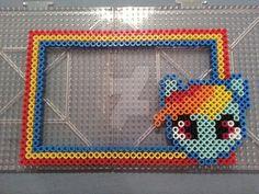 My Little Pony Rainbow Dash Perler Bead Frame by AshMoonDesigns