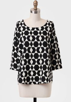 Meet You There Geometric Blouse at #Ruche @shopruche