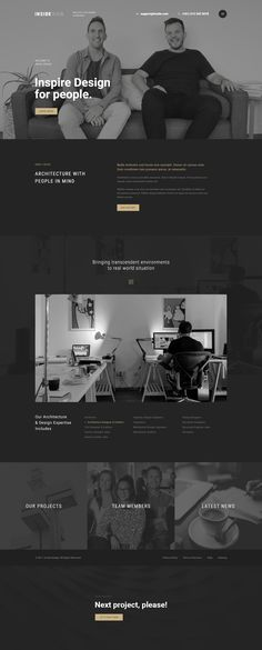 Inside is PSD template that is crafted for fashion architecture/interior & other related niche site in the industry. The package includes 30 psd files with well-named as well as well-organized layers. Web Design Websites, Homepage Design, Web Ui Design, Minimal Website Design, Modern Website, Pag Web, Website Layout, Web Layout, Web Mockup