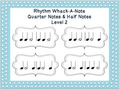 quarter notes and half notes